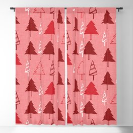 Christmas Tree Red and Pink Blackout Curtain
