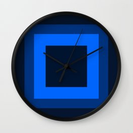Navy Blue Square Design Wall Clock