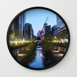 Stream at night Wall Clock