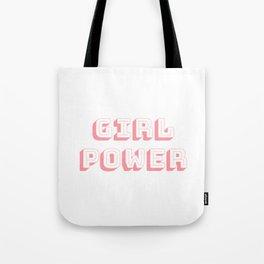 Girl Power Pink Feminism Tote Bag