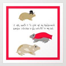 Hamster collection Art Print