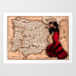 bailarína de flamenco Art Print