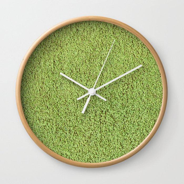 Phlegm Green Shag Pile Carpet Wall Clock