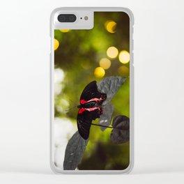 Butterflies + Twinkle Lights 2 Clear iPhone Case