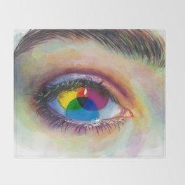 Eye of an artist Throw Blanket