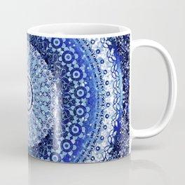 Cobalt Tapestry Mandala Coffee Mug