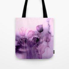 tulips through smoke Tote Bag
