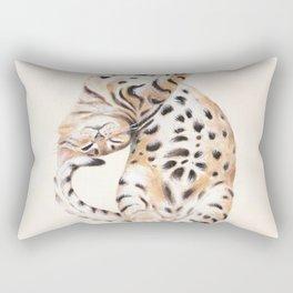Cute Stretching Bengal Kitten Rectangular Pillow