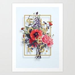 Flowers Bloom Botanicals Vintage Illustration Poster #2 Art Print