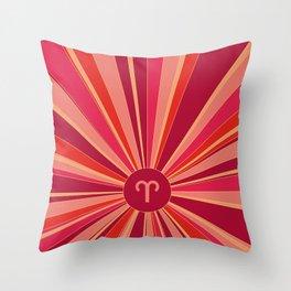 Aries - Zodiac colors series Throw Pillow