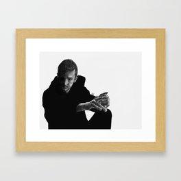 dark side of tyler Framed Art Print