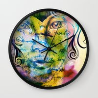 fairy tale Wall Clocks featuring Fairy Tale by Irmak Akcadogan