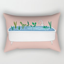 In the shower Rectangular Pillow