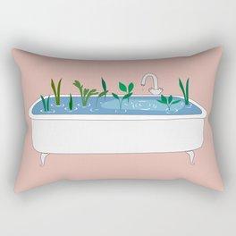 In the shower Rectangular Pillow