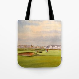 Carnoustie Golf Course Scotland With Clubhouse Tote Bag