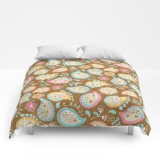 Hedgehog Paisley_Colors and Cocoa Comforters