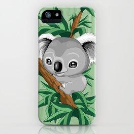 Koala Baby on the Eucalypt Branch iPhone Case