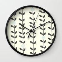 calendars Wall Clocks featuring Leaf by Shabby Studios Design & Illustrations ..