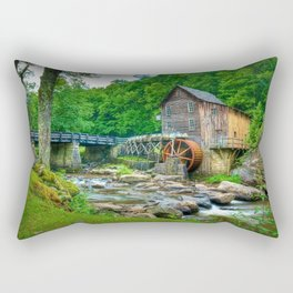 Image USA Stream Babcock State Park Nature water mill park Forests stone Creek brook Creeks Streams Watermill Parks forest Stones Rectangular Pillow
