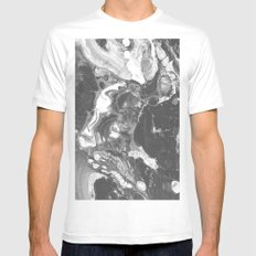 HOLLOW White MEDIUM Mens Fitted Tee