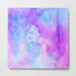 Mystical unicorn Metal Print