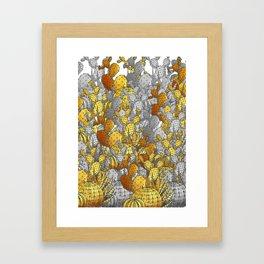 Metallic Desert Framed Art Print