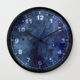 Night Sky Stars Galaxy | Watercolor Nebula Wall Clock