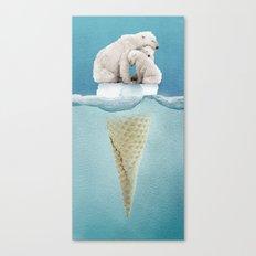 polar ice cream cap 02 Canvas Print