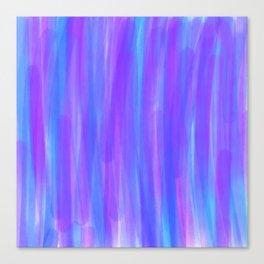 Moonlight Blue Purple and Fuschia Watercolor Canvas Print