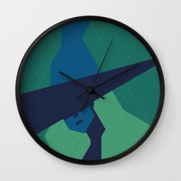 The blue Witch. Wall Clock