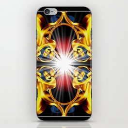 Golden ornament. iPhone Skin