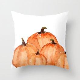Orange pumpkin patch Throw Pillow