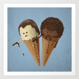Le Ice Cream Art Print