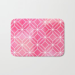 Geometric Crystals: Rose Petal Bath Mat