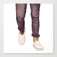 louis tomlinson Canvas Prints featuring Louis Tomlinson Legs by thestoryischanging