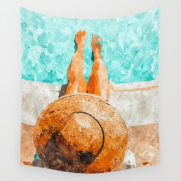 By The Pool All Day Wall Tapestry