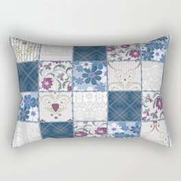 Patchwork  floral lace pattern background Rectangular Pillow