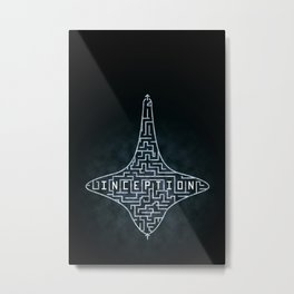Inception - Top Maze Metal Print