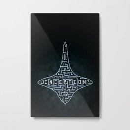 Inception - Top Maze Metal Print