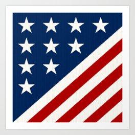 US flag Art Print