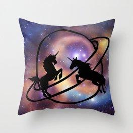 Space Unicorns Throw Pillow