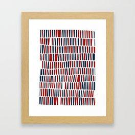 Patriotic red and blue Framed Art Print