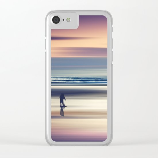 Sharing the Magic - abstract seascape at sunset Clear iPhone Case