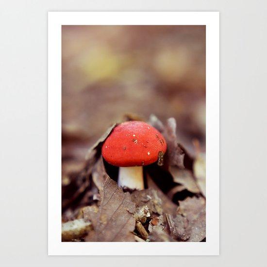 Red Cap Art Print