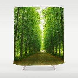 Evergreen Forest Duvet Cover  Shower Curtain
