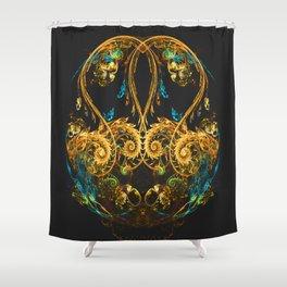 Vintage Fractal Shower Curtain