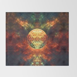 Centered Reality (Flower Of Life)  Throw Blanket