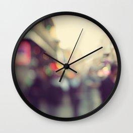 Bourbon Bokah Wall Clock