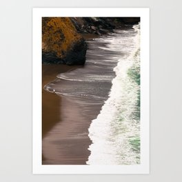 Tennessee Beach Waves Vertical Panoramic Art Print
