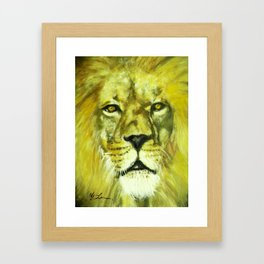 Wildlife Painting Series 2 - Mesmerizing Lion King Framed Art Print